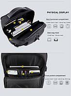 Классический дорожный рюкзак для ноутбука до 15,6 дюймов Arctic Hunter B00113С, влагозащищённый, с USB портом, 28л, фото 9