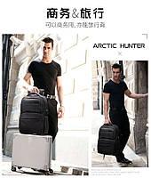 Классический дорожный рюкзак для ноутбука до 15,6 дюймов Arctic Hunter B00113С, влагозащищённый, с USB портом, 28л, фото 10