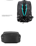 Деловой  рюкзак для ноутбука до 15,6 дюймов Arctic Hunter B00069, влагозащищённый, с USB портом, 23л, фото 6