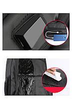 Деловой  рюкзак для ноутбука до 15,6 дюймов Arctic Hunter B00069, влагозащищённый, с USB портом, 23л, фото 7