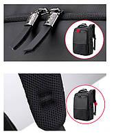 Деловой  рюкзак для ноутбука до 15,6 дюймов Arctic Hunter B00069, влагозащищённый, с USB портом, 23л, фото 8