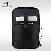 Деловой  рюкзак для ноутбука до 15,6 дюймов Arctic Hunter B00069, влагозащищённый, с USB портом, 23л, фото 9
