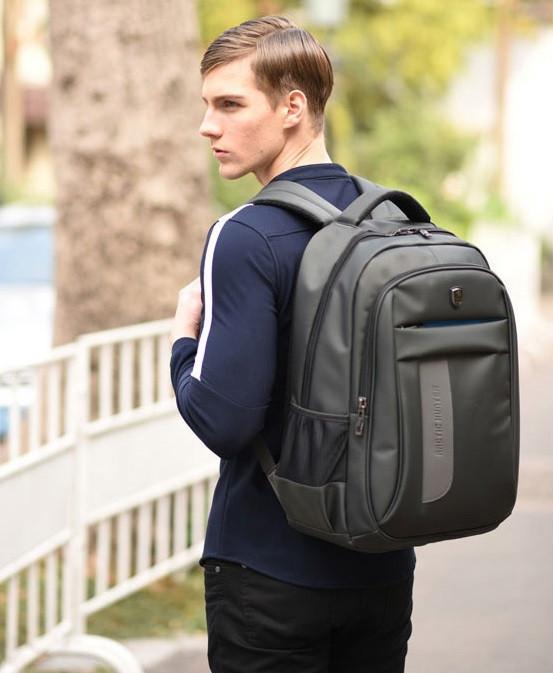 Классический влагозащищённый рюкзак для ноутбука 15,6 дюймов Arctic Hunter 1500195, с отверстием для наушников, 22л Серый