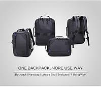 Универсальный влагозащищённый рюкзак-брифкейс 4в1 для ноутбука до 15,6 дюймов Arctic Hunter 1500346, 20л, фото 4