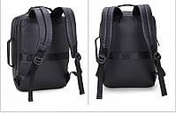 Универсальный влагозащищённый рюкзак-брифкейс 4в1 для ноутбука до 15,6 дюймов Arctic Hunter 1500346, 20л, фото 5