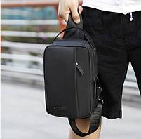 Удобная сумка-мессенджер через плечо для бизнеса и путешествий Arctic Hunter XB130027, влагозащищённая, 3л, фото 8
