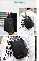 Удобная сумка-мессенджер через плечо для бизнеса и путешествий Arctic Hunter XB130027, влагозащищённая, 3л, фото 10