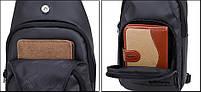 Удобная сумка-мессенджер для бизнеса и путешествий Arctic Hunter XB13005, влагозащищённая, 4л, фото 8