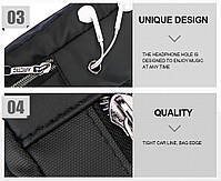 Влагозащищённый рюкзак-сумка с одной лямкой через плечо и отверстием для наушников Arctic Hunter XB00014, 4л, фото 4