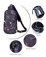 Удобная сумка-мессенджер для бизнеса и путешествий Arctic Hunter XB00033, многофункциональная, 4л, фото 3