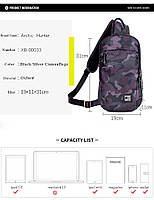 Удобная сумка-мессенджер для бизнеса и путешествий Arctic Hunter XB00033, многофункциональная, 4л, фото 4