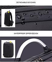 Стильный рюкзак для ноутбука Arctic Hunter B00208, многофункциональный, с кодовым замком, 24л, фото 7