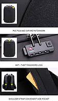 Стильный рюкзак для ноутбука Arctic Hunter B00208, многофункциональный, с кодовым замком, 24л, фото 8