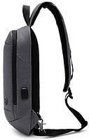 Однолямочный рюкзак через плечо Arctic Hunter XB00077, влагозащищённый, 5л, фото 2