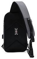 Однолямочный рюкзак через плечо Arctic Hunter XB00077, влагозащищённый, 5л, фото 3
