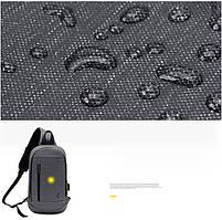 Однолямочный рюкзак через плечо Arctic Hunter XB00077, влагозащищённый, 5л, фото 4