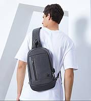 Однолямочный рюкзак через плечо Arctic Hunter XB00077, влагозащищённый, 5л, фото 9
