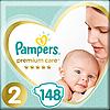 Підгузники Pampers Premium Care New Baby 2 (4-8 кг) Mega Pack 148 шт