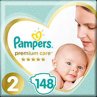 Подгузники Pampers Premium Care New Baby 2 (4-8 кг) Mega Pack 148 шт., фото 1