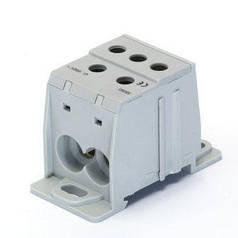 Распределительный блок 1-пол. 125А - входы 1х10-35мм², выходы 4