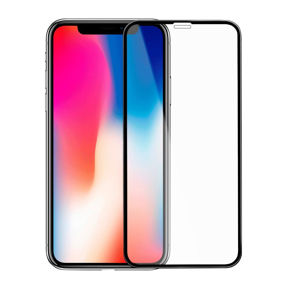 Защитное стекло iPhone X, XS Full Glue чёрное