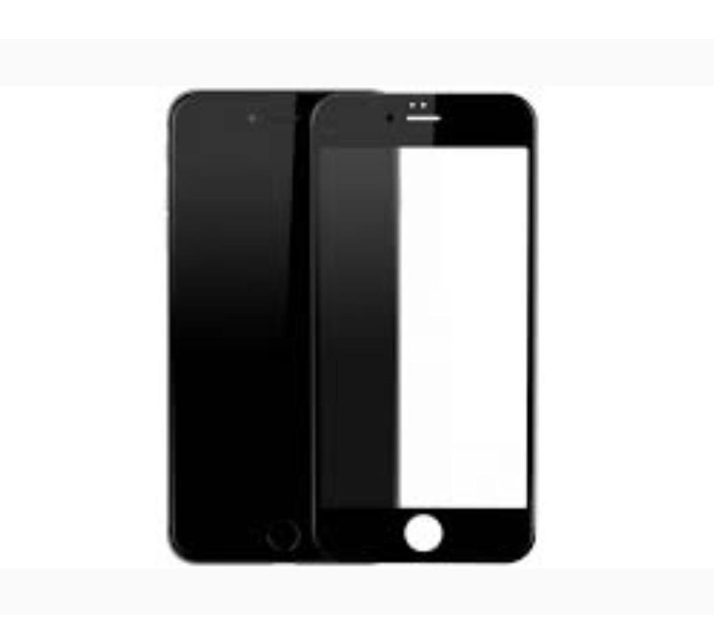Защитное стекло iPhone 7 Plus, 8 Plus чёрное 5D (тех упаковка)