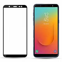 Защитное стекло Samsung J810 Galaxy J8 2018 Full Glue чёрное (тех упаковка)