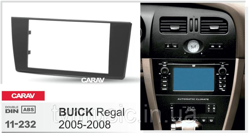 Переходная рамка CARAV 11-232 2 DIN (Buick Regal)