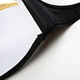 Купальник жіночий роздільний бандо, розмір S (чорний з золотим оздобленням), фото 8