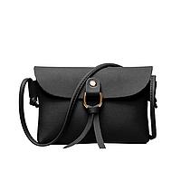 Маленькая женская летняя ретро сумка черного цвета