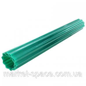 "Пластиковый шифер ""Волнопласт"". Цвет: зеленый. Размер рулона: Д:21м*Ш:2,5м=52.5 кв.м, фото 2"