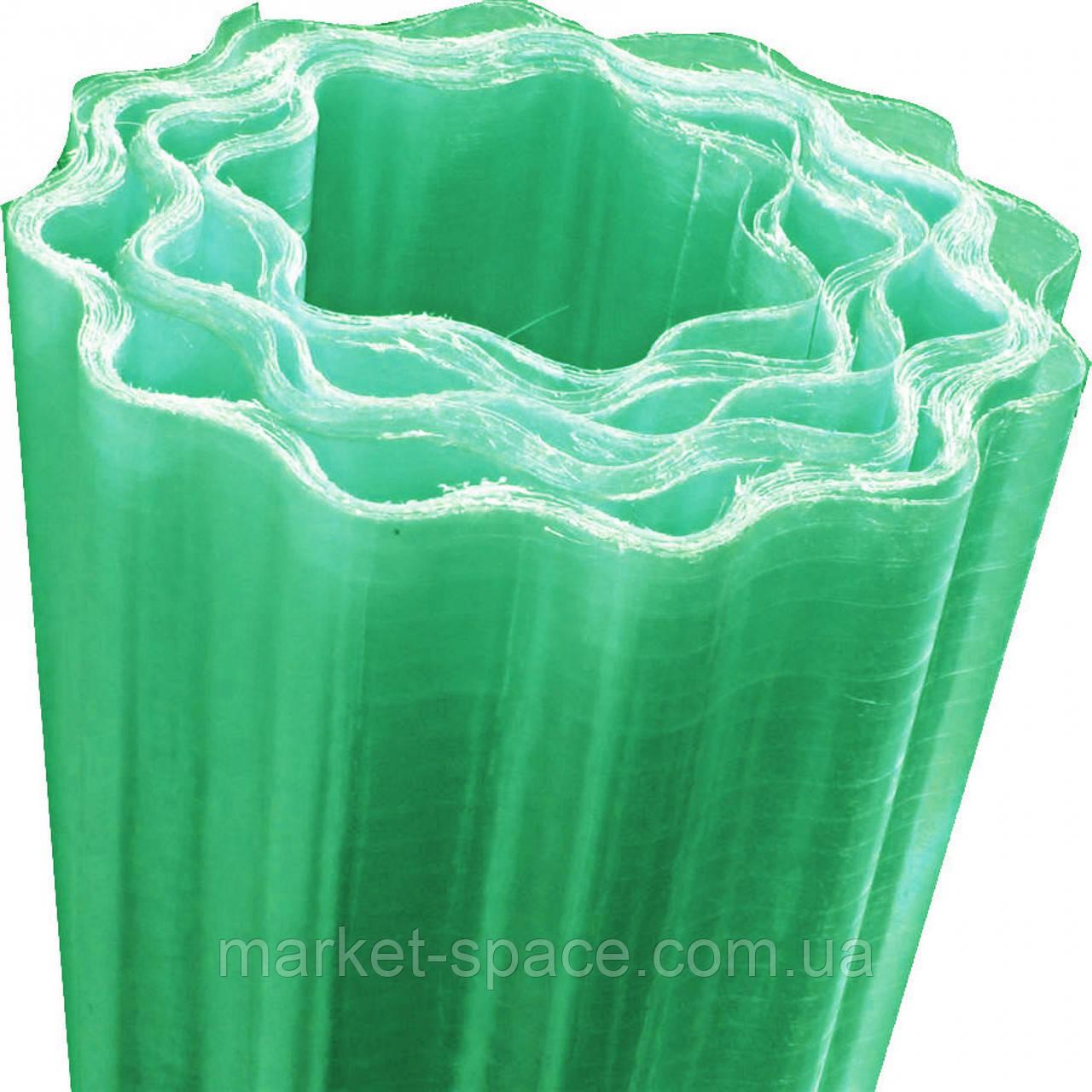 """Пластиковый шифер """"Волнопласт"""". Цвет: зеленый. Размер рулона: Д:21м*Ш:2,5м=52.5 кв.м"""