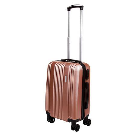 Чемодан маленький OULANDO 4 колеса пластик ABS 36х48х22 розовый ксЛ516-20роз, фото 2