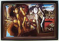 Большая интерьерная картина в раме Живопись маслом Сальвадор Дали*Метаморфозы Нарцисса* Декор для офиса фойе