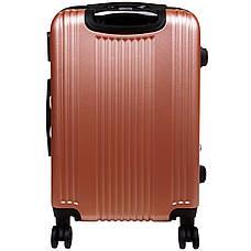Валіза маленький OULANDO 4 колеса пластик ABS 36х48х22 рожевий ксЛ516-20роз, фото 3