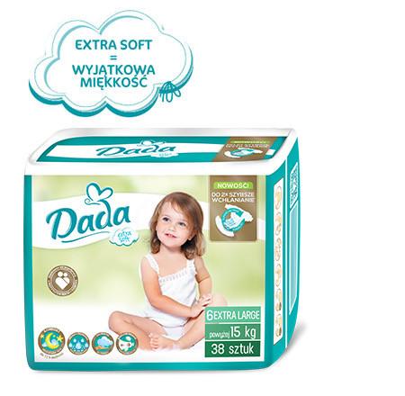Подзузники Dada Premium Extra Soft 6 15+кг 38 шт