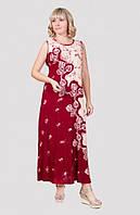 Очаровательное летнее платье в пол из натуральной ткани от производителя