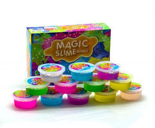 """Жвачка для рук """"Magic Slime"""", с шариками, 12 штук PR1425 scs"""