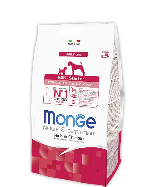 Корм Monge Dog Mini Starter Монж Дог Міні Стартер для цуценят і годуючих собак порід міні 15 кг