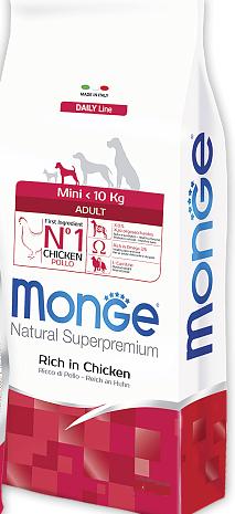 Корм Monge Dog Mini Adult Монж Дог Міні Едалт для дорослих собак порід міні 15 кг