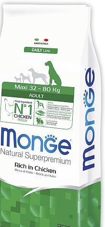 Корм Monge Dog Maxi Adult Монжа Дог Максі Едалт для дорослих собак великих порід 15 кг