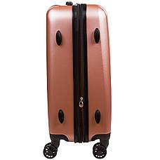 Чемодан OULANDO большой с расширением розовый пластик ABS 4 колеса 47х70х30(+3)  ксЛ516-28роз, фото 3