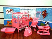 Дитяча кімната для барбі набір меблів Gloria 9409