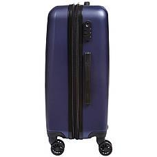 Чемодан маленький OULANDO синий пластик ABS 4 колеса 36х48х22  ксЛ516-20син, фото 2