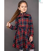 Школьное платье в клетку для девочки Размер 116