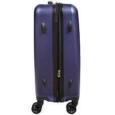 Чемодан маленький OULANDO синий пластик ABS 4 колеса 36х48х22  ксЛ516-20син, фото 3