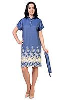 Женское джинсовое платье-туника