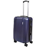 Чемодан средний с расширением OULANDO 4 колеса 42х60х27(+3) синий пластик  ABS  ксЛ516-24син