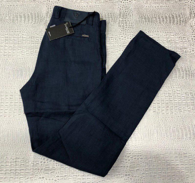 4d7c8d53fa2 Льняные брюки Billionaire D7020 темно-синие - купить по лучшей цене ...
