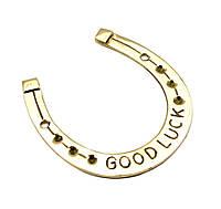 "Подкова бронзовая ""good luck"" (9х7,5 см)(naal good luck medium big)"